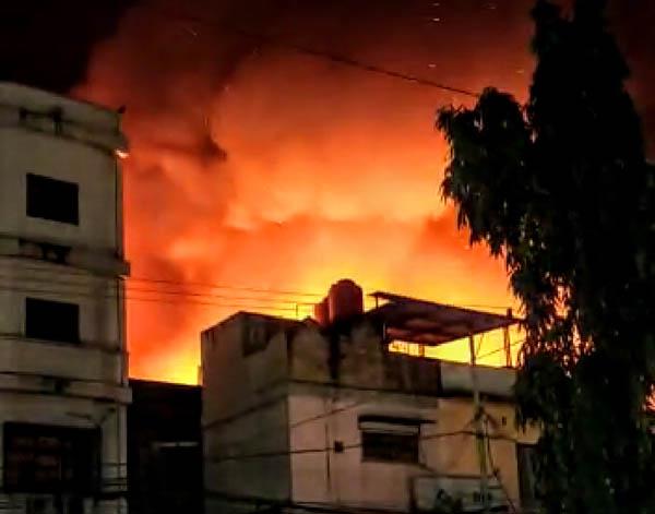 Pasar Pajak Lama Rohil Terbakar