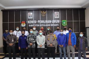 KPU Kepulauan Meranti Tetapkan Tiga Paslon, Satu Paslon Ditunda