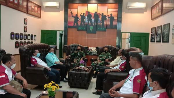 KONI Kampar Tunjuk Danyon 132/Bima Sakti Mayor Inf M Syafii Nasution Sebagai Ketua Kontingen Porprov 2022 Kuansing