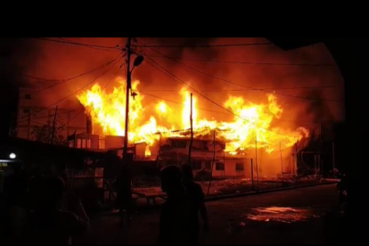 Teluk Belitung Membara, 4 Unit Bangunan Ludes Terbakar