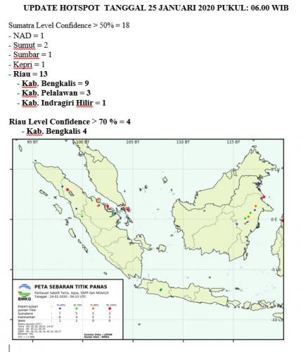 Bengkalis Tidak Pernah Absen Sumbang Titik Panas di Riau