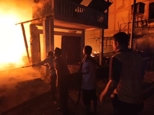 Kebakaran di Teluk Belitung Kepulauan Meranti, Kerugian Ditafsir Rp500 Juta