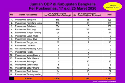 Data Terbaru, Jumlah ODP di Kabupaten Bengkalis 1.357 Orang, Ersan: Belum Ada yang Positif Covid-19