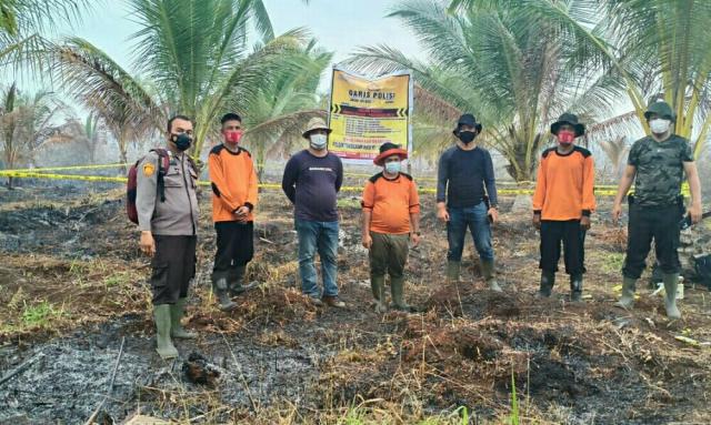 Membuka Kebun, Seorang Pria di Inhil Sebabkan 3 Hektare Lahan Terbakar