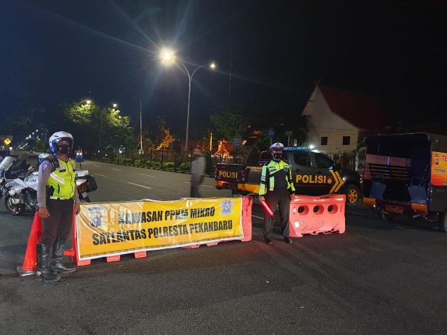 PPKM Level 4, Pintu Masuk ke Kota Pekanbaru akan Disekat dan Dijaga Ketat Aparat Kepolisian