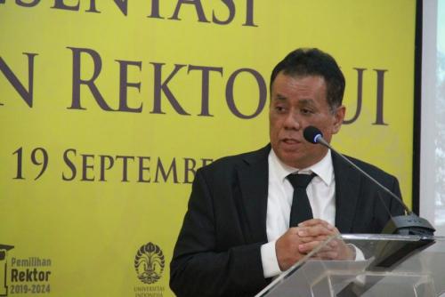 Ari Kuncoro Jadi Rektor Universitas Indonesia Periode 2019-2024