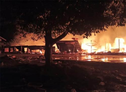 18 Rumah Warga Inhu Terbakar, Kerugian Mencapai Rp4 Miliar