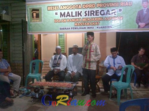 Baru Seminggu Dilantik dan Dalam Suasana Libur, Anggota DPRD Riau Malik Siregar Tetap Bertugas
