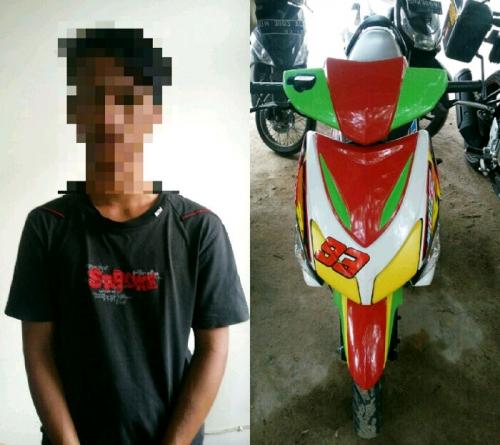 Gelapkan Sepeda Motor, Remaja Putus Sekolah di Pekanbaru Ini Ditangkap Polisi
