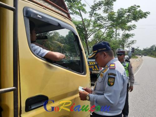 Dishub Kuansing Razia Kendaraan Angkutan Umum dan Barang