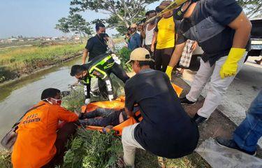 Honda Vario Tabrak Pohon dan Tercebur ke Empang, Sepasang Kekasih Tewas