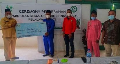 Dua Desa Binaan Asian Agri di Pelalawan Raih Reward Desa Bebas Api