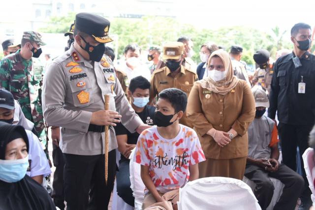 Gelar Vaksinasi Kompak di Bengkalis, Polda Riau Target 22 Ribu Jiwa