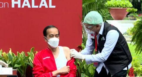 Disuntik Vaksin Sinovac Dosis Kedua, Jokowi: Seperti 2 Minggu Lalu, Tidak Terasa