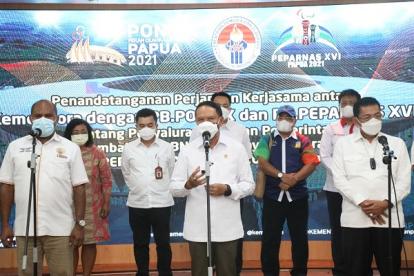PON XX dan Peparnas XVI Harus Sukses Prestasi, Penyelenggaraan dan Administrasi Kata Menpora Amali