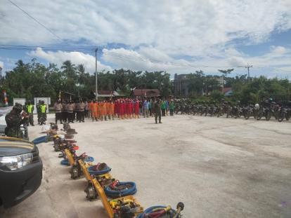 Apel Karhutla, Personil dan Peralatan di Bangko Sudah Siaga