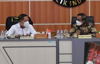 Menpora Amali Laporkan PON Papua XX Berjalan Sukses Saat Rapat dengan Menko Polhukam