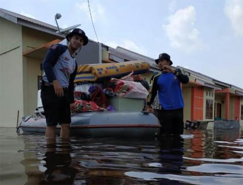 Kondisi Banjir Terkini di Kecamatan Pangkalan Kerinci, di Sebagian Wilayah Mulai Surut