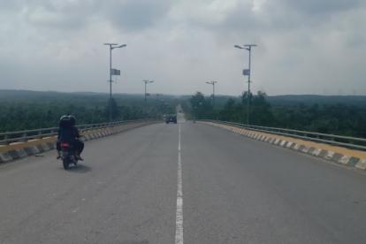 Selesai Diperbaiki, Jembatan Maredan Siak Sudah Bisa Dilintasi