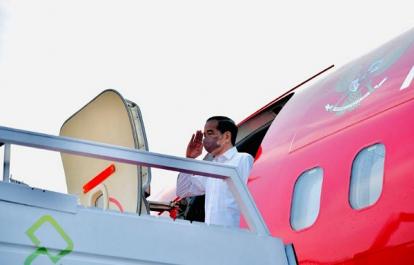 BreakingNews: Tiba di Pekanbaru, Presiden Jokowi Langsung Bertolak ke Bengkalis