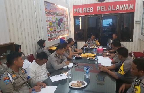 Kunjungan Tim Supervisi Polda Riau Soal Pelaksanaan Operasi Bina Kusuma Siak Polres Pelalawan
