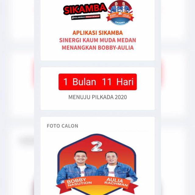 Tak Ingin Pasangan PKS Pimpin Kota Medan, SIKAMBA Nyatakan Dukungan ke Bobby - Aulia