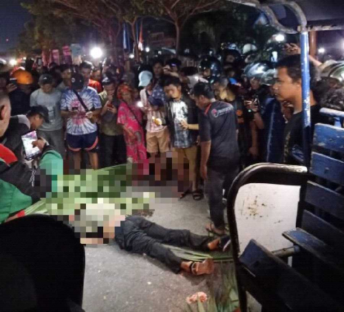 Kecelakaan Maut, Kepala Pengendara Motor Pecah Setelah Dilindas Truk di Jalan Sukarno Hatta Pekanbaru