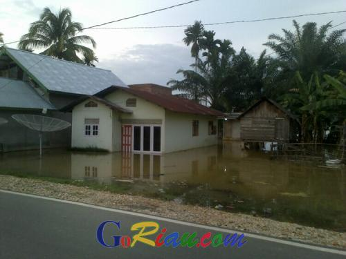 Lagi, Banjir Rendam Puluhan Rumah di Pangean