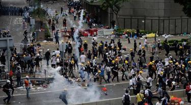 Meliput Demo di Hong Kong, Jurnalis Asal Indonesia Tertembak di Bagian Mata