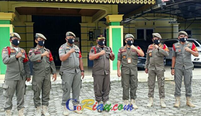 Satgas di Pelalawan Terus Berikan Imbauan Cegah Covid-19
