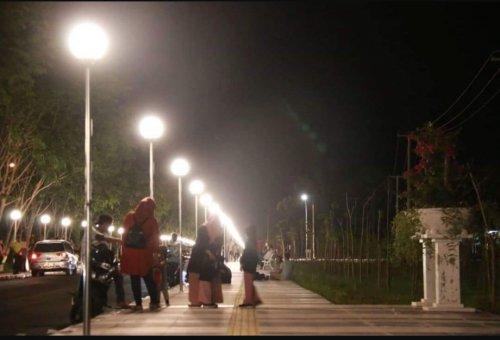 Sejak New Normal Diterapkan, Jalan Muzafarsyah Siak Ramai Warga Beraktivitas