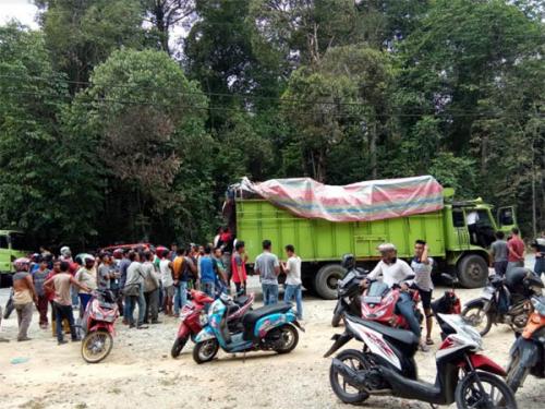 Ini Kronologis Video Viral Penemuan Mayat Tergantung di Bak Truk Pupuk di Bangkinang