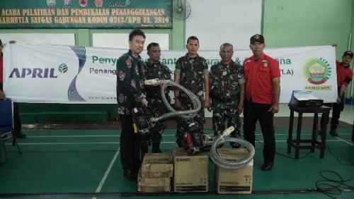 PT RAPP Latihan Bersama dengan Prajurit Kodim 0313/KPR Dalam Penanggulangan Karhutla