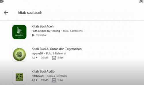 MPU Kecam Aplikasi Kitab Suci Aceh di Google yang Berisi Terjemahan Taurat, Injil dan Zabur