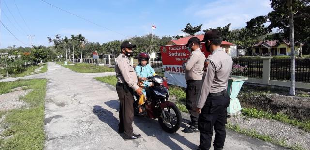 Polsek Rangsang Gelar Operasi Yustisi di Jalan Pelajar Tanjungsamak