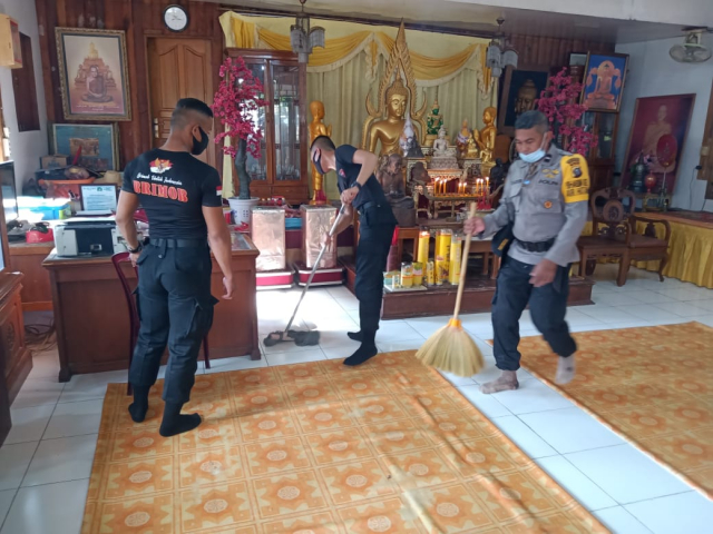 GoRiau Tampak personel Brimob tengah
