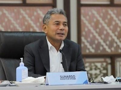 GoRiau Direktur Utama BRI, Sunarso.