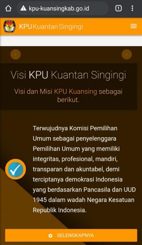 GoRiau Website resmi KPU Kuansing yan