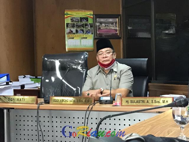 GoRiau Marwan Yohanis saat menggelar