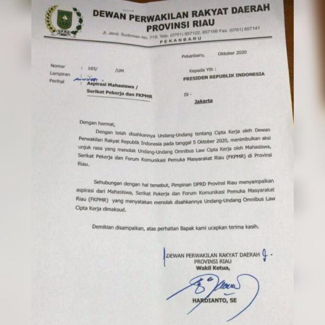 GoRiau Surat pertama yang belum ada s