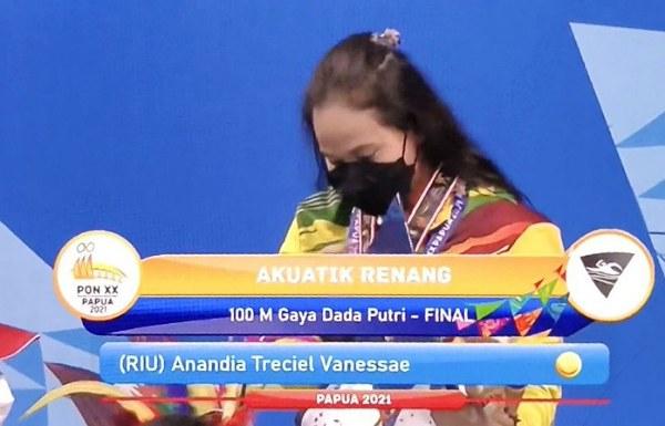 GoRiau Vanessa Evato, peraih medali e