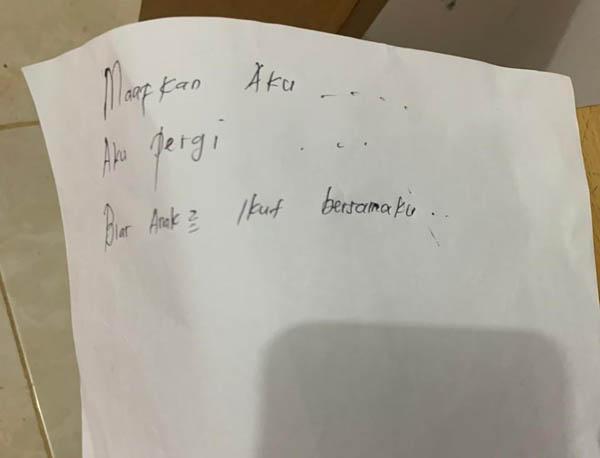 GoRiau Surat yang ditinggalkan ibu ya
