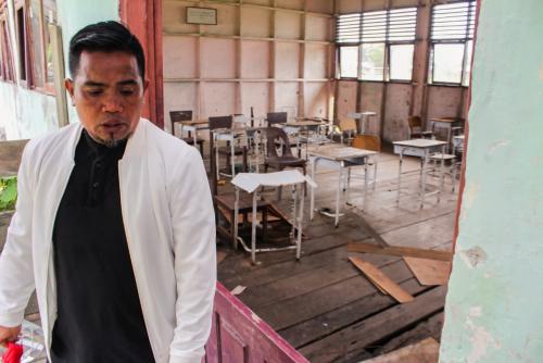 GoRiau Raut sedih terpancar dari waja