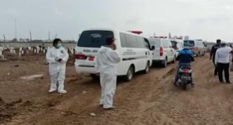 GoRiau Antrean ambulans pembawa jenaz