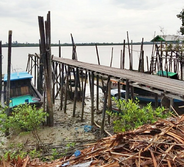 GoRiau Lokasi Jembatan Kaso yang diba