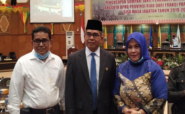 GoRiau Syahroni Tua dan keluarga.